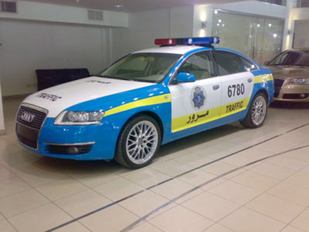 Audi S6 Police Car Kuwait