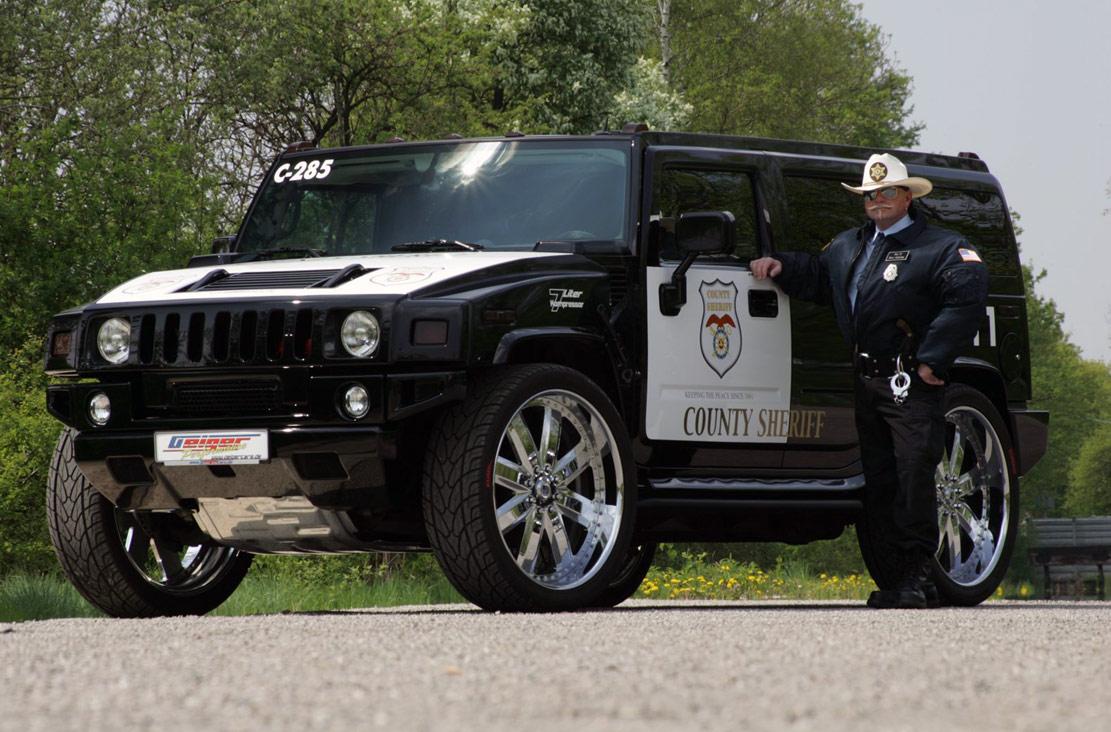 Hummer H2 Police Car   GeigerCars